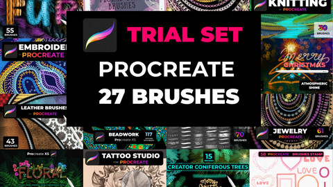 Trial set of 22 brushes Procreate