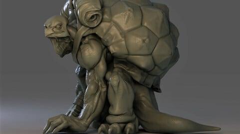 Turtle land Assassin  !!  (STL for 3d printing )