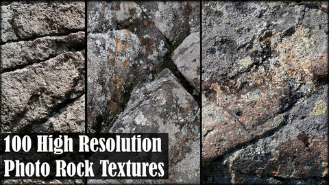 100 High Resolution Photo Rock Textures