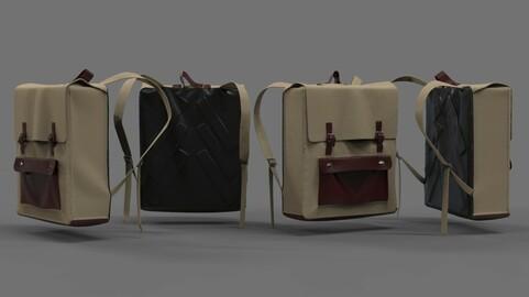Square Backpack 3d model