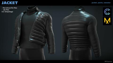 Jacket - Marvelous/Clo 3D (.obj)