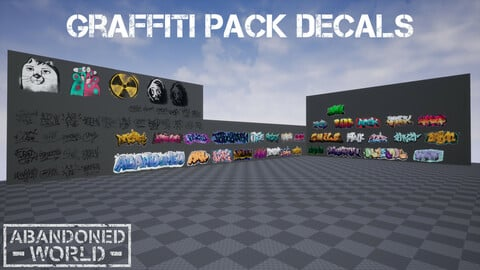 Graffiti Pack Decals for UE4 & Unity