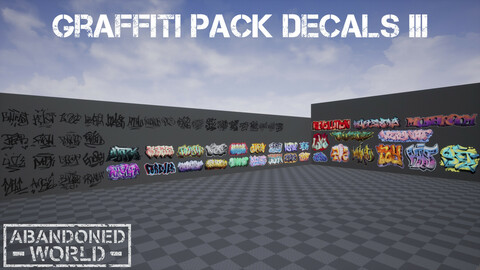 Graffiti Pack Decals III for UE4 & Unity