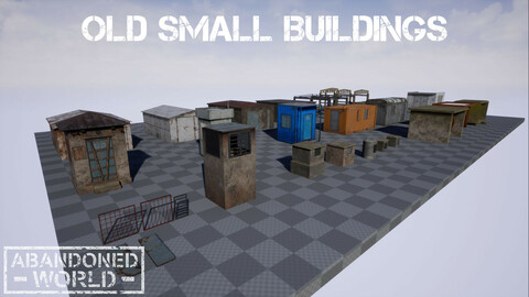 Old Small Buildings for UE4 & Unity