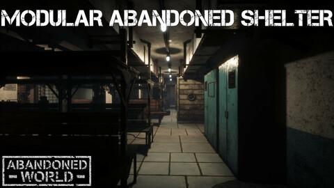 Modular Abandoned Shelter for UE4