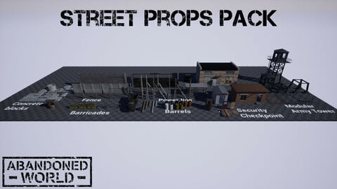 Street Props Pack for UE4