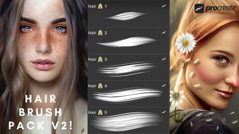 Procreate Hair Brush Pack V2!