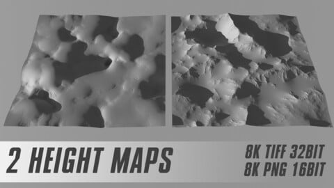 2 SEAMLESS HEIGHT MAP 8K