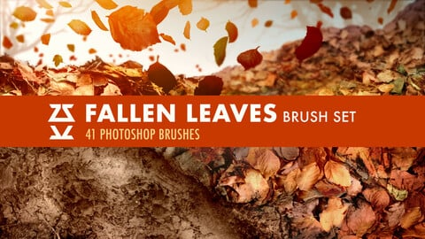Fallen Leaves Brush Set