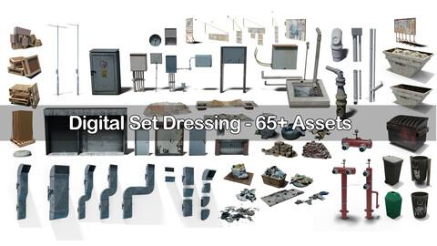 Digital Set Dressing -  Detail 3d Kitbash For Life Like Renders