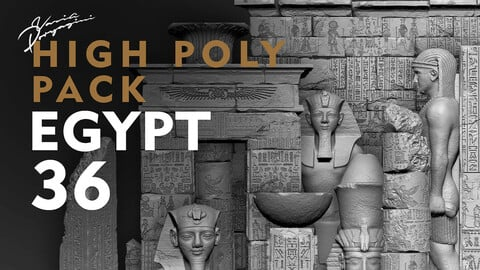 Egypt Environment Assets High Poly + Low poly