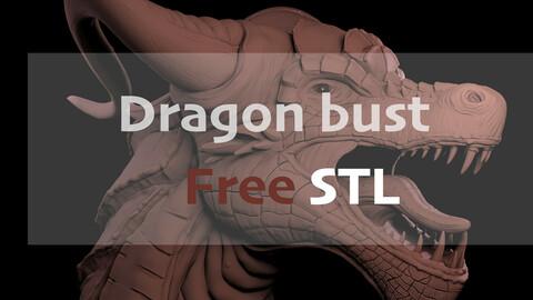 Dragon bust FREE STL