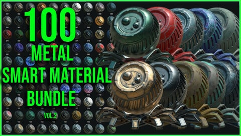 100 High Quality Metal Smart Material Bundle Volume 2