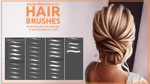 Hair Brushes for Adobe Photoshop CC