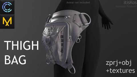 Thigh Bag. Clo3D, MD projects + obj + texturest