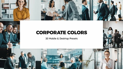 20 Corporate Colors LUTs and Lightroom Presets