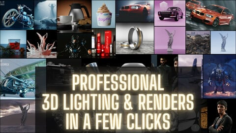 Lighting Toolkit   For Blender 2.8 Cycles Realistic And Professional Archviz, Automotive, Characters (Launch Promo -50% Off)