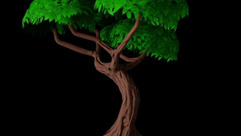Modelado, esculpido y texturizado de un árbol stylized en Blender y Photoshop