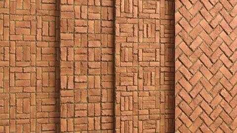 Materials 8- Brick Tiles PBR in 4 Patterns