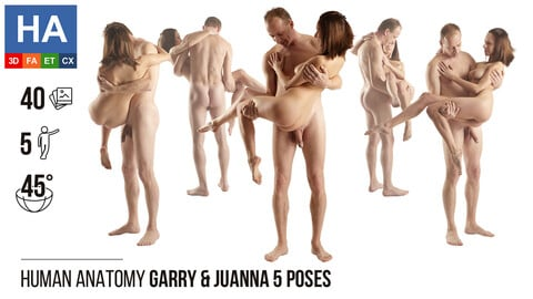 Human Anatomy | Garry & Juanna 5 Various Poses | 40 Photos