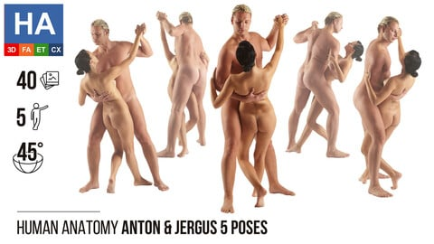 Human Anatomy | Anton & Jergus 5 Various Poses | 40 Photos