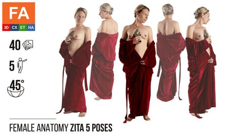 Female Anatomy | Zita 5 Various Poses | 40 Photos