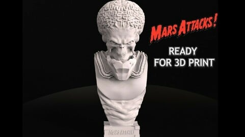 Mars Attacks Bust -  The Captain Who Never Existed (FAN ART)