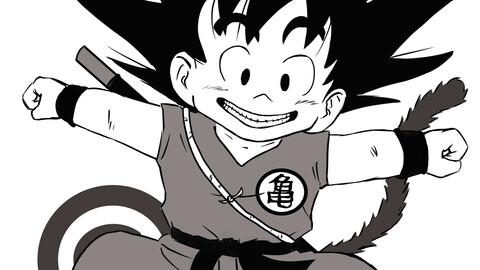 Fanart Goku from Dragon Ball (1986) - sizes A3, A4