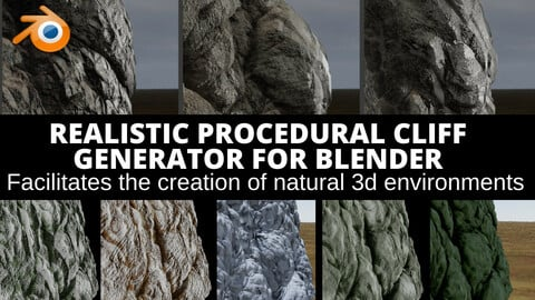 Natural Cliff Realistic Procedural Cliff Generator For  Environment Creation (Promo -50% Off)