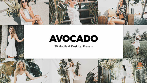 20 Avocado LUTs and Lightroom Presets