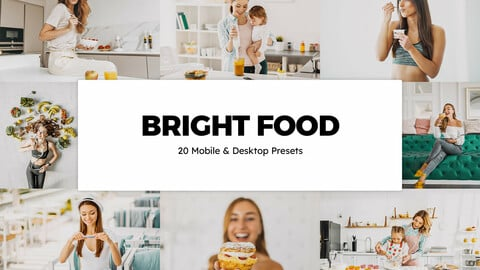 20 Bright Food LUTs and Lightroom Presets