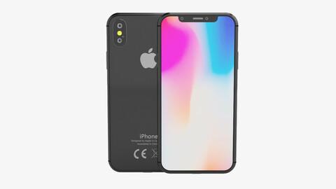 iPhone X Model Vray