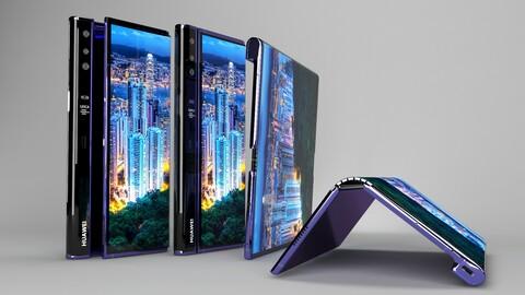 Huawei Mate X Element 3D