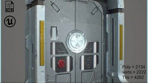 SciFi_SpaceShip_Door_GameReady