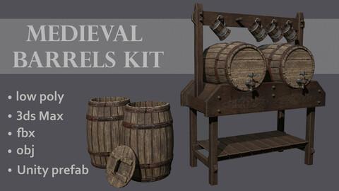 Medieval barrels kit