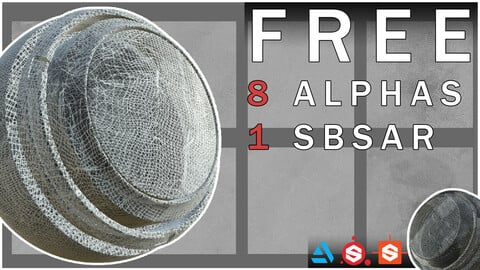Free - 4K HQ Loose Cloth Alphas + Substance Painter Smart Material/SBSAR