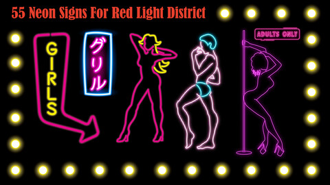 55 Neon Signs - PNG