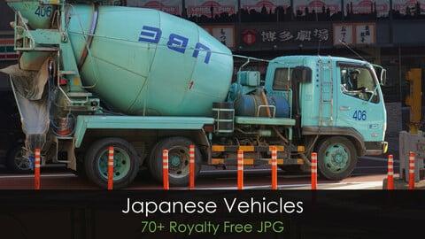 Japanese Vehicles - Photo Reference Pack