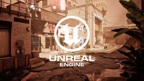 Post-Apocalyptic Urban City (UE4)