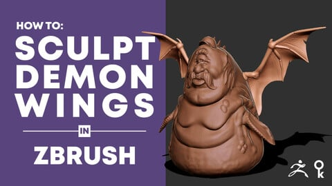 How to sculpt demon wings in ZBrush