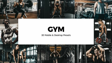 20 Gym LUTs and Lightroom Presets