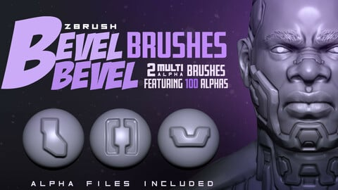 Bevel Bevel Brushes : ZBrush Brushes