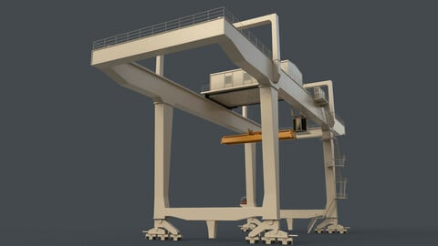 PBR Rail Mounted Gantry Crane RMG V1 - White