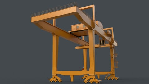 PBR Rail Mounted Gantry Crane RMG V1 - Yellow Dark