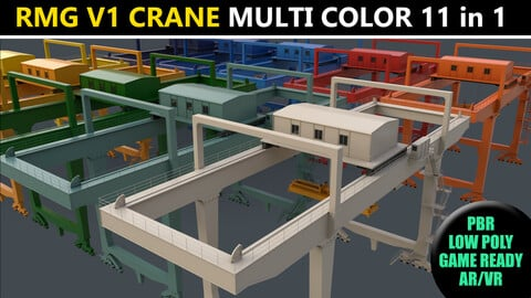 PBR Rail Mounted Gantry Crane RMG V1 - Multi color Pack