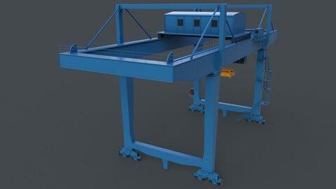 PBR Rail Mounted Gantry Crane RMG V2 - Blue Light