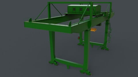 PBR Rail Mounted Gantry Crane RMG V2 - Green
