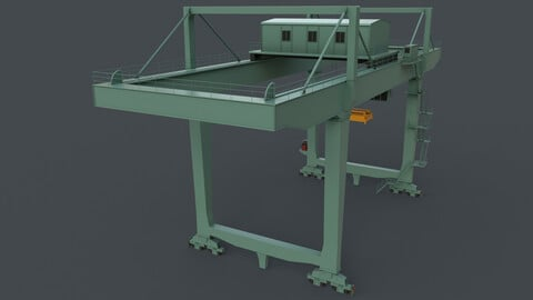 PBR Rail Mounted Gantry Crane RMG V2 - Green Light