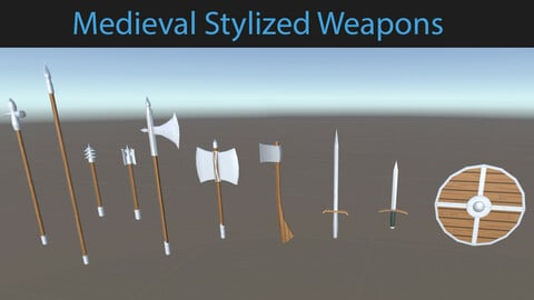 3D Stylized Medieval Weapons Assets for Games
