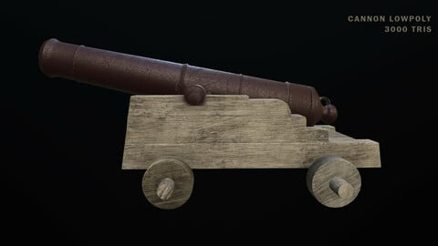 Low Poly Cannon